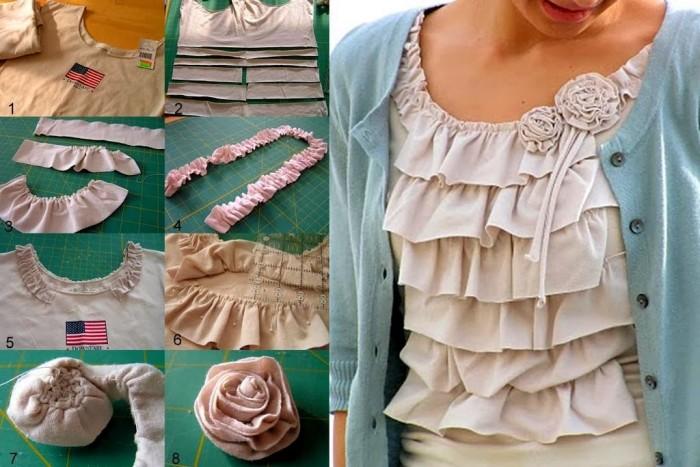 ideas para hacer prendas reutilizando ropa vieja paso a paso playeras originales para dama faciles de hacer