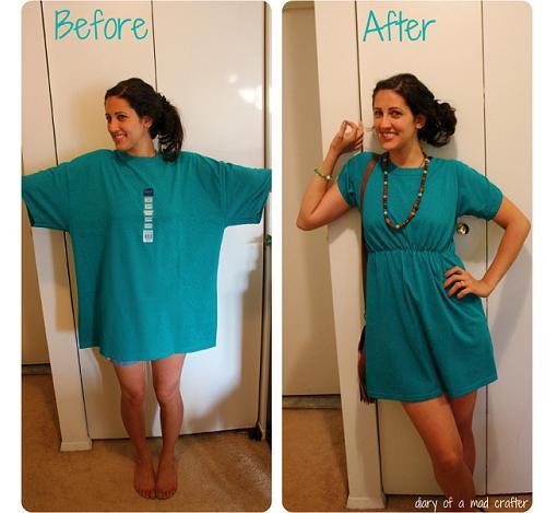 reciclar-camiseta-en-vestido