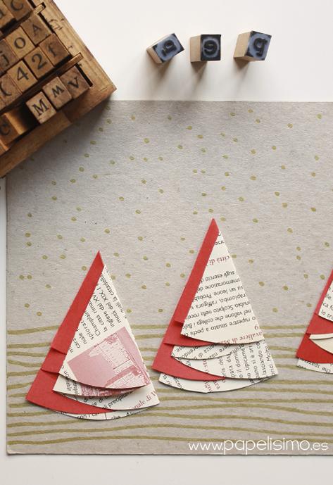 tarjetas-de-navidad-hechas-a-mano-originales-arboles-de-papel-scrapbooking-reciclado