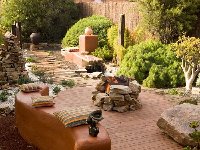 zen-jardin-ideas-suelo-madera-piedras
