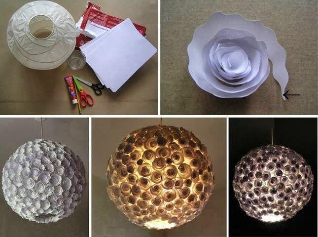 43 ideas de l mparas recicladas originales muy bonitas ecolog a hoy - Adornos de navidad caseros faciles ...