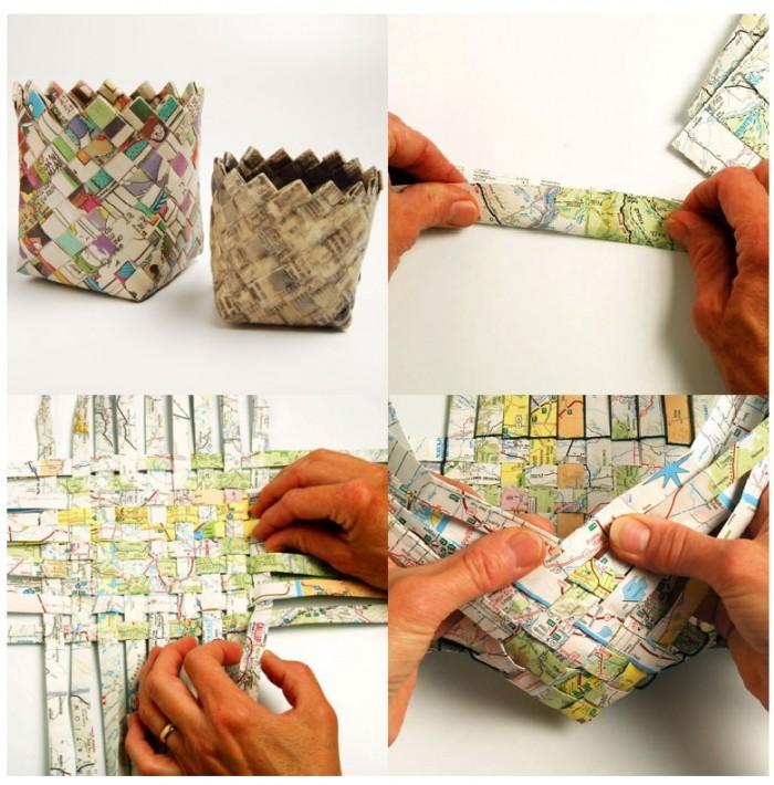 C mo reciclar papel de diario y hacer cosas para la casa for Ideas para decorar la casa de tucuman