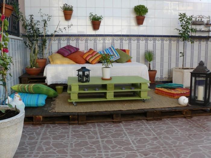 jardines reutilizar Palets de madera