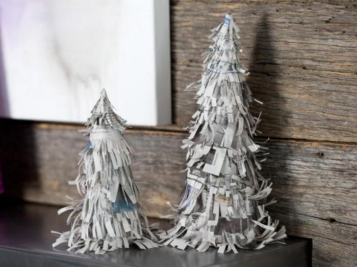 manualidades-de-navidad-originales-arbol-papel-periodico