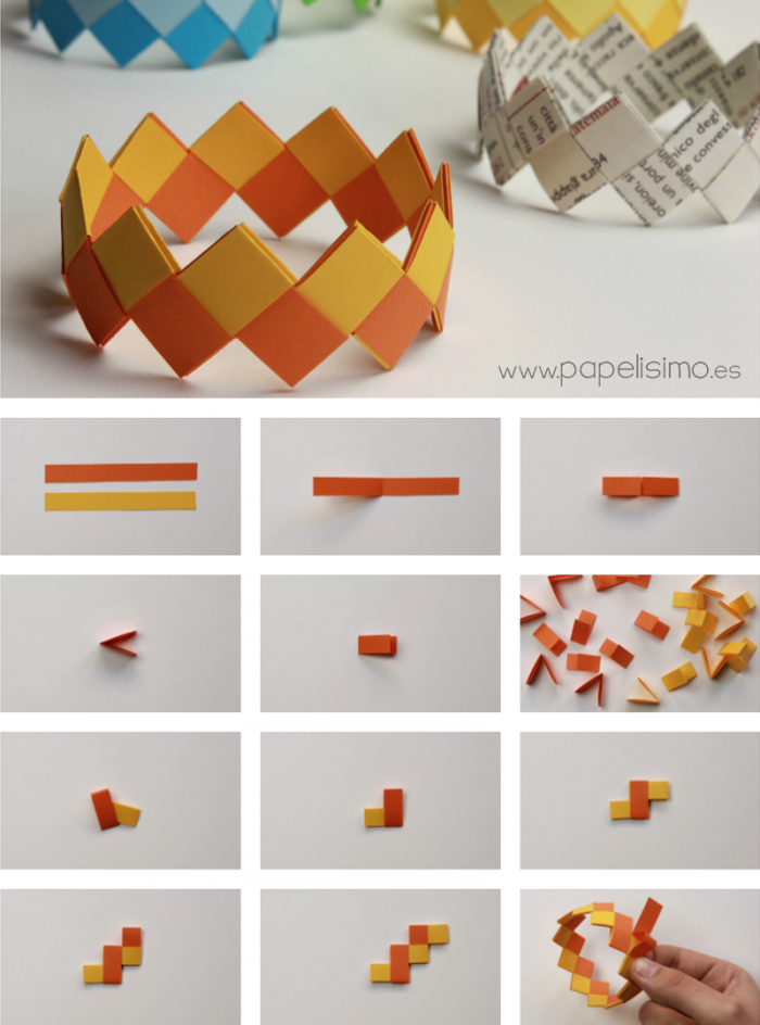 pulseras-de-papel-paper-bracelet-paso-a-paso