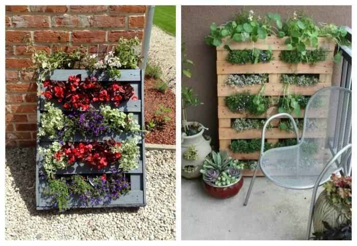 Im genes con ideas para decorar el jard n con palets Cuadros para el jardin