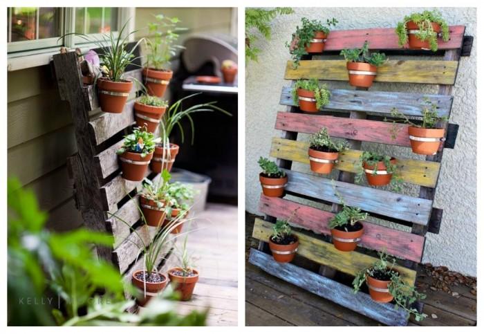 Im genes con ideas para decorar el jard n con palets for Figuras para el jardin