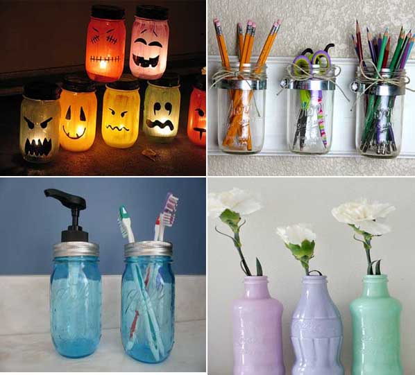 Im genes con ideas para reciclar botellas de vidrio for Reciclar botes de cristal decoracion