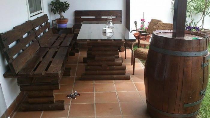 Im genes con ideas para decorar el jard n con palets - Muebles de jardin hechos con palets ...