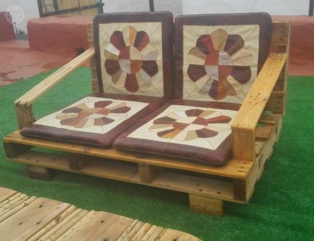 Ideas super originales para hacer sillones ecol gicos for Sillones para jardin hechos con palets