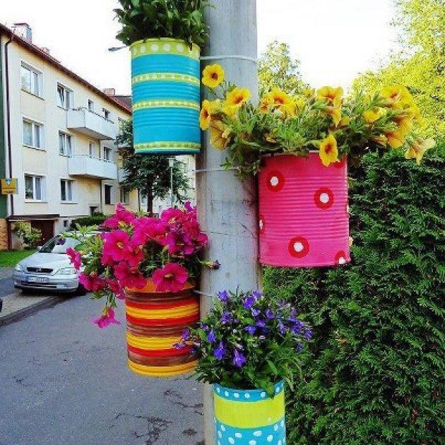 40 ideas en im genes para reciclar latas de conservas for Ideas para decorar tu jardin reciclando