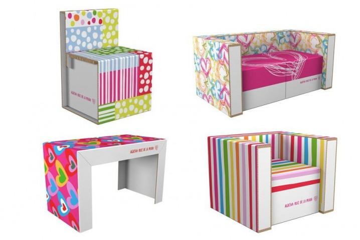 decoracion-ecologica-muebles-carton-agatha-ruiz