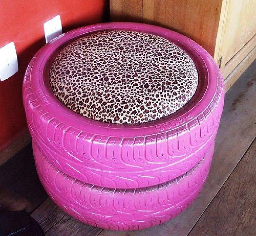 sillon-rosa-leopardo-llantas