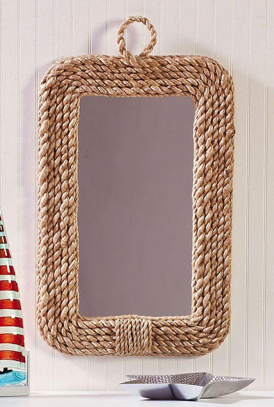 Originales espejos hechos con materiales reciclados Marcos para espejos artesanales