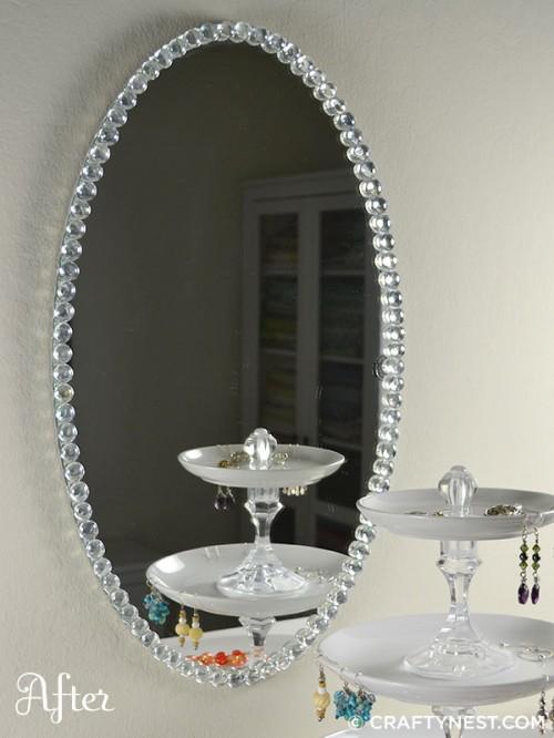 Originales espejos hechos con materiales reciclados for Espejo publico hoy completo