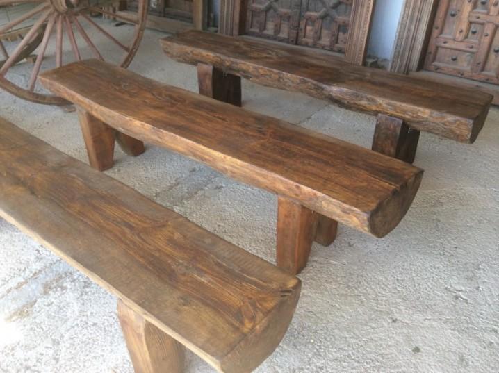 Bancos y sillas hechos con troncos ideas super originales para decorar tu jard n ecolog a hoy - Bancos de jardin de segunda mano ...