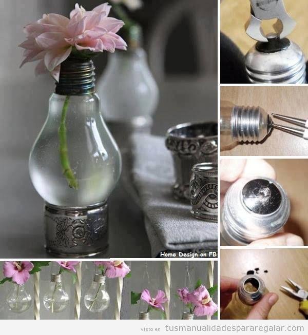 manualidades-regalar-ideas-decorar-originales-bombilla-jarron-flores