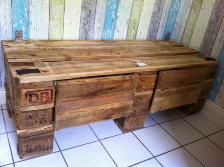 Ideas creativas para reciclar cajones y palets para for Ideas hacer muebles con palets