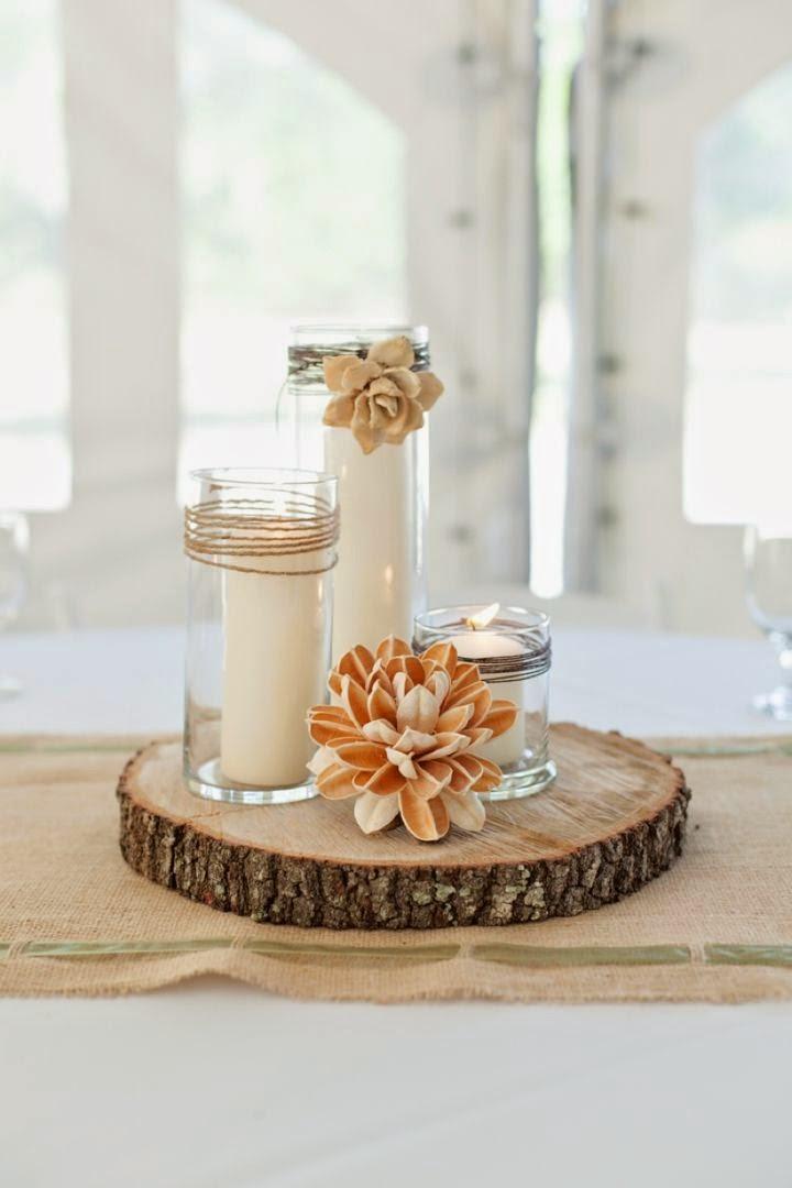 Centros de mesa para casamiento con botellas frascos y - Peceras pequenas decoradas ...