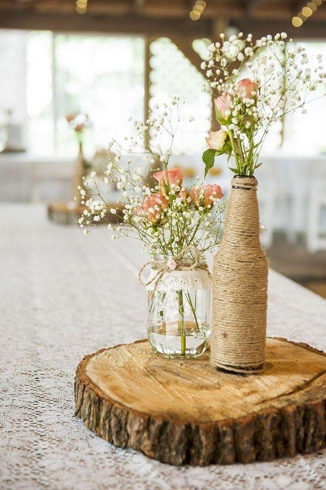 Centros de mesa para boda reciclados muy originales y for Decoracion vintage reciclado