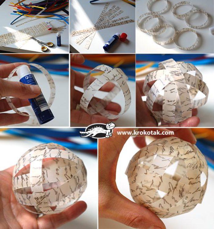 bolas-de-navidad-con-papel-reciclado