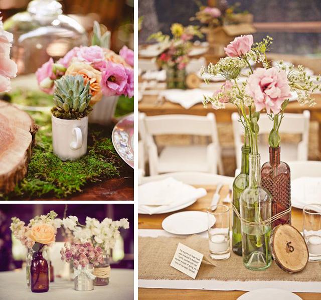 Centros de mesa para boda reciclados muy originales y - Centros de mesa de comedor originales ...