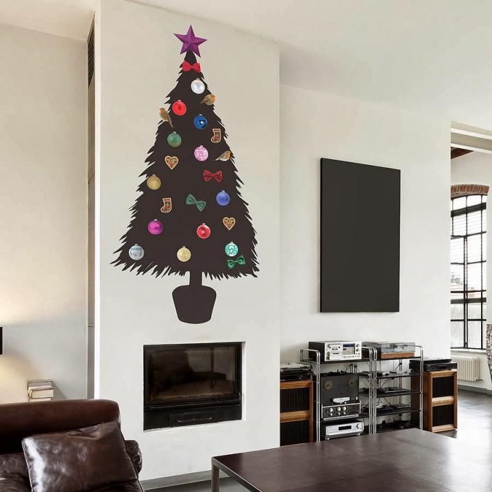 45 rboles de navidad con reciclados para ni os ecolog a hoy - Arbol de navidad de pared ...