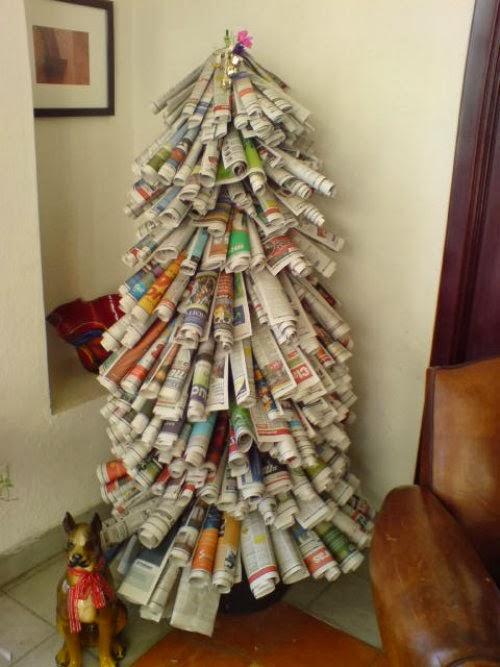 arbol-de-navidad-reciclar-papel-de-diario