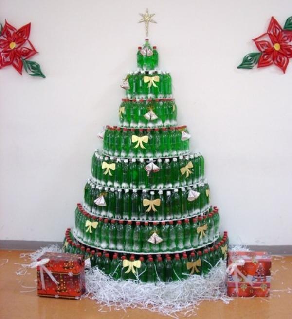 arbol-navideno-de-frascos