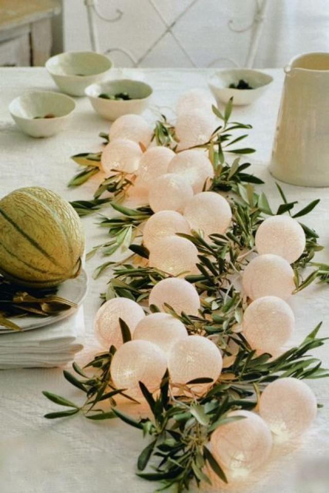 centros-de-mesa-para-boda-economicos-con-ramas-de-olivo-y-luces