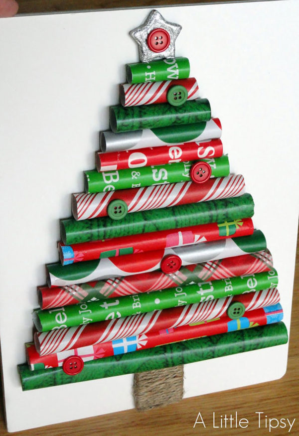 decoracion-navidena-con-materiales-reciclados-arboles-de-navidad-rollos-de-papel-600x875
