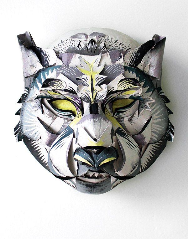 Máscaras De Animales En 3d De Cartón Reciclado Para Carnaval