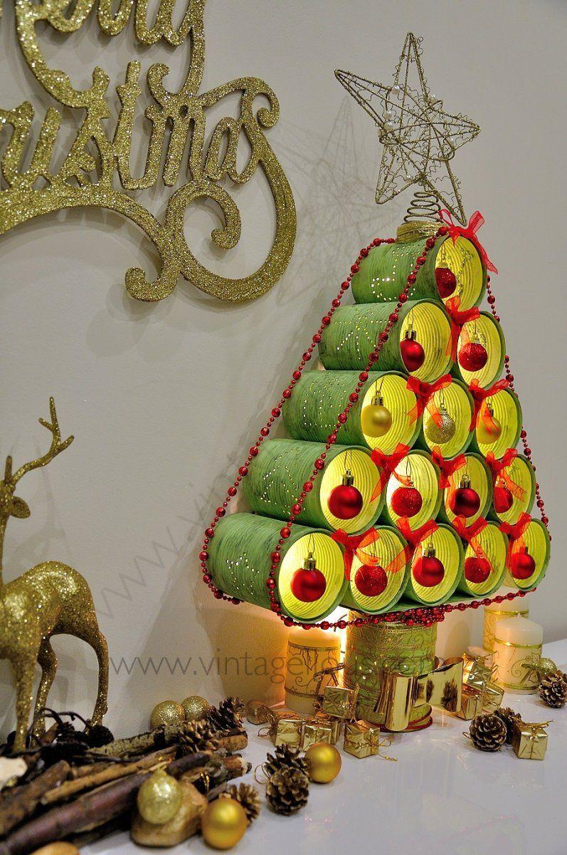 Adornos Para Navidad Reciclados Con Materiales De Desecho Ecologia Hoy - Adornos-de-navidad-reciclados-como-hacerlos