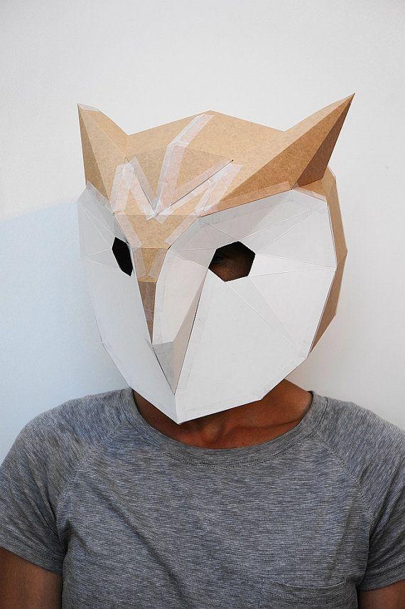 Máscaras de animales en 3D de cartón reciclado para Carnaval 2017 ...