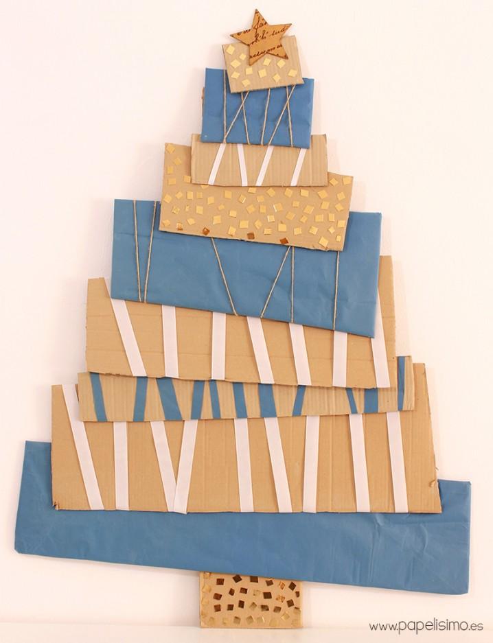 arbol-navidad-carton-cardboard-christmas-tree
