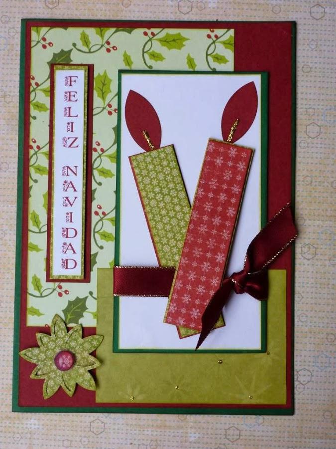 Manualidades de navidad tarjetas recicladas y originales - Tarjetas de navidad manuales ...