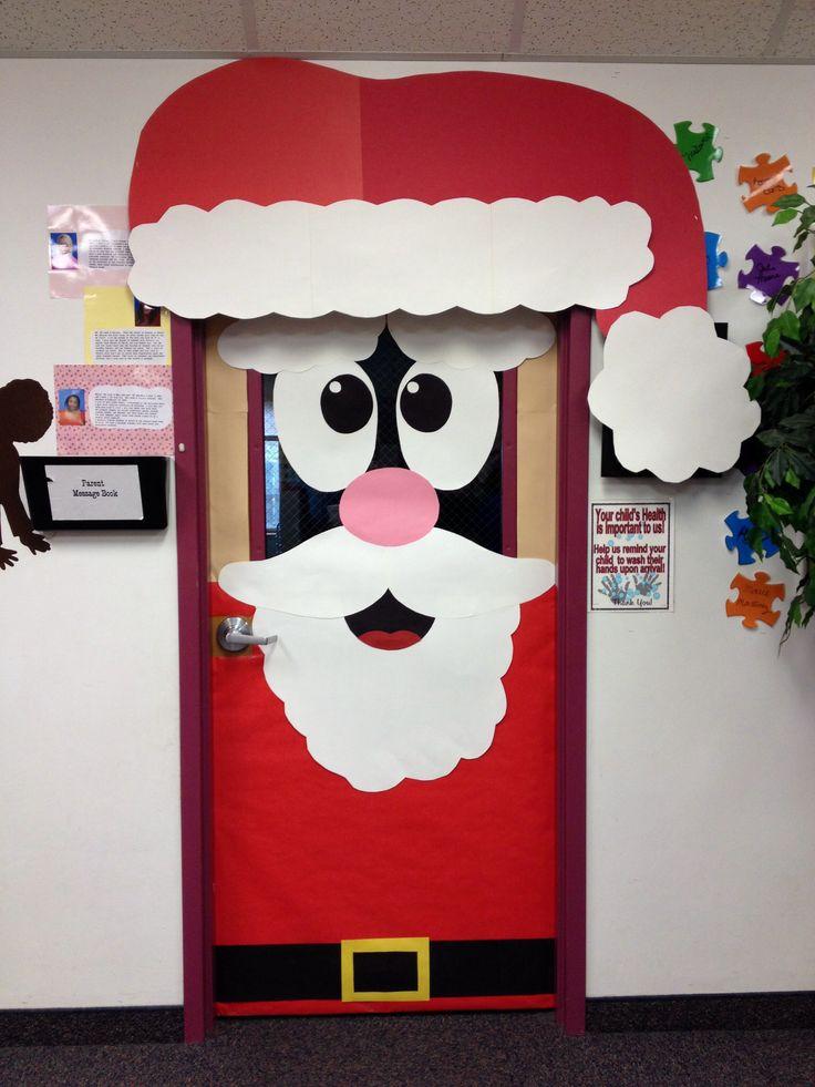 Decoraci n navide a con reciclaje adornos centros de for Puertas decoradas navidad material reciclable