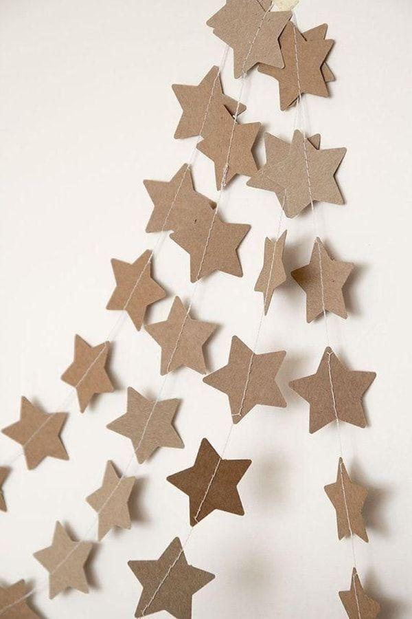 Decoraci n navide a con reciclaje adornos centros de - Ideas para decorar estrellas de navidad ...