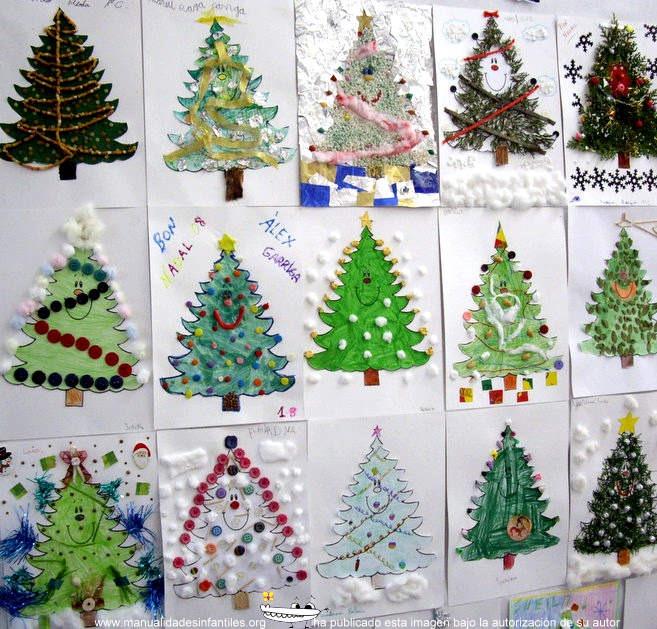 Manualidades De Navidad Tarjetas Recicladas Y Originales - Tarjetas-navideas-para-nios