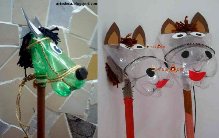 Disfraces originales con materiales desechables y - Manualidades de caballos para ninos ...