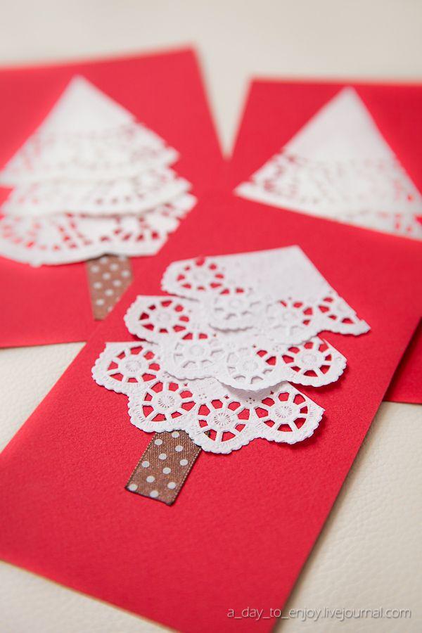 Manualidades De Navidad Tarjetas Recicladas Y Originales - Manualidades-de-tarjetas-de-navidad