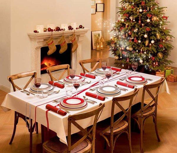C mo decorar reciclando la mesa para navidad y a o nuevo - Como decorar una mesa de comedor ...