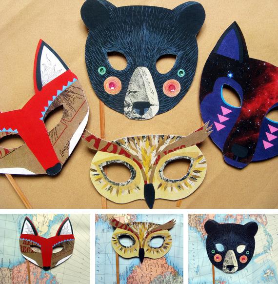 Máscaras De Animales Con Material Reciclado Ecología Hoy