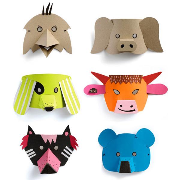 M scaras de animales con material reciclado ecolog a hoy - Adornos de navidad con material de desecho ...