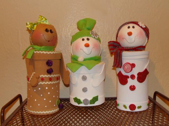 Adornos Para Navidad Reciclados Con Materiales De Desecho Ecologia Hoy - Manualidades-con-rollos-de-papel-higienico-para-navidad