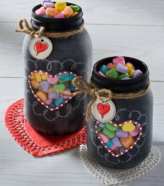 45 regalos para san valentin hechos con materiales for Frascos decorados para navidad