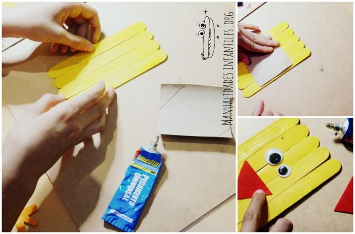 Manualidades hechas con palitos de helado ecolog a hoy for Paletas de cocina decoradas