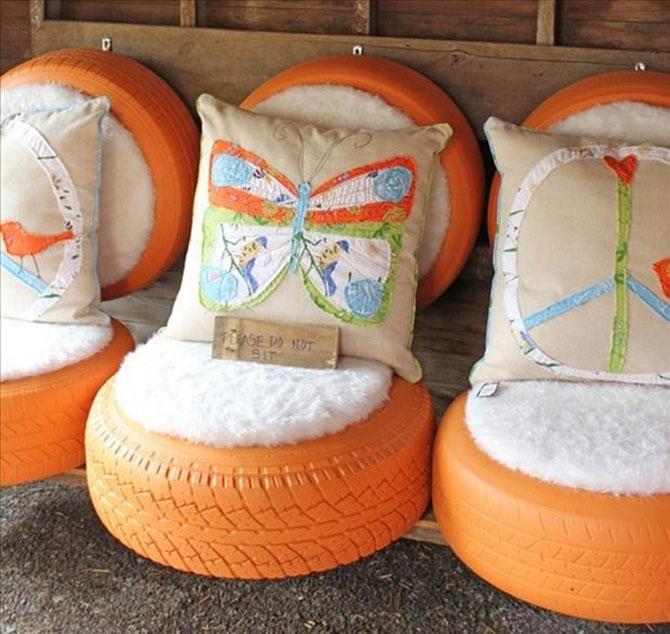 Manualidades con materiales reciclados para el jardin for Muebles con cosas recicladas