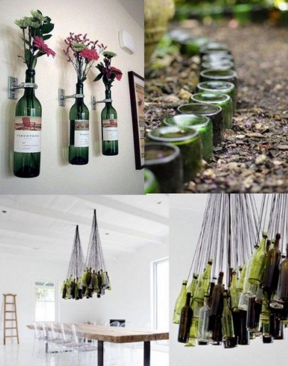 Reciclaje manualidades hechas con botellas de vidrio for Adornos con botellas para plantas