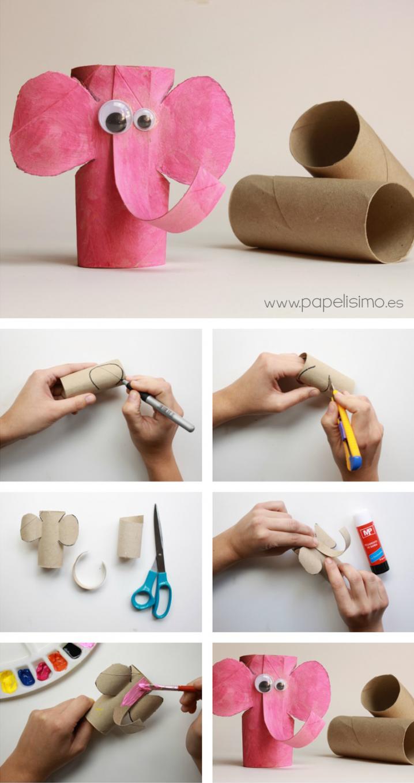 50 manualidades originales hechas con tubos de cart n y - Como hacer cosas de papel paso a paso faciles ...